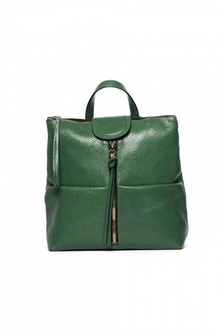 Сумка-рюкзак женская зеленого цвета Gianni Chiarini