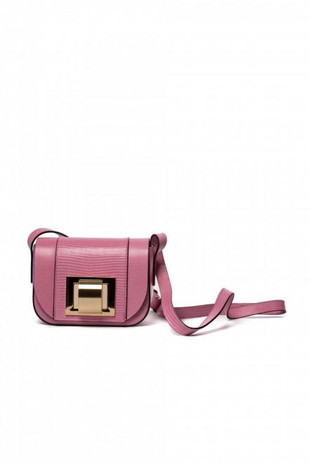 Сумка женская кросс боди  розового цвета маленькая Gianni Chiarini