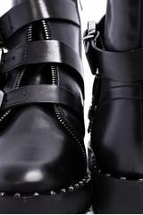 Ботинки женские с пряжками черные  The Seller 3