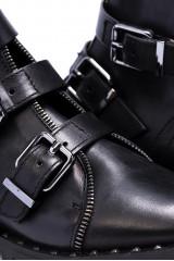 Ботинки женские с пряжками черные  The Seller 4