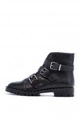 Ботинки женские с пряжками черные  The Seller 1
