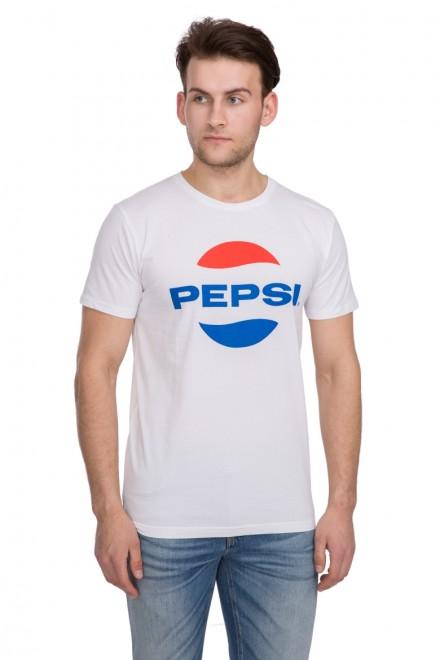 Футболка мужская  белая с логотипом Pepsi от Shine Original