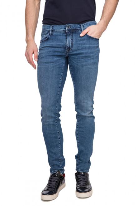 Джинсы мужские узкие выбеленные синего цвета Antony Morato