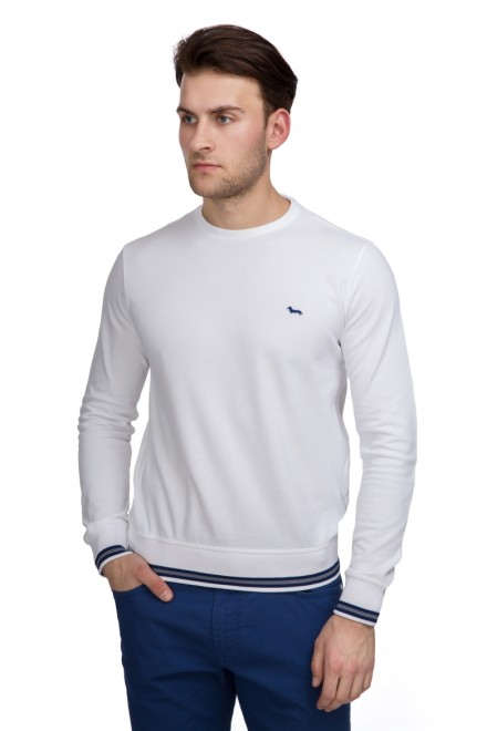 Пуловер мужской (лонгслив) белый Harmont & Blaine