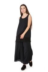 Топ-майка женская с кружевом черная Le Coeur