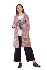 Пальто женское персиковое Rich & Royal 4