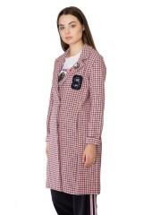 Пальто женское персиковое Rich & Royal 1