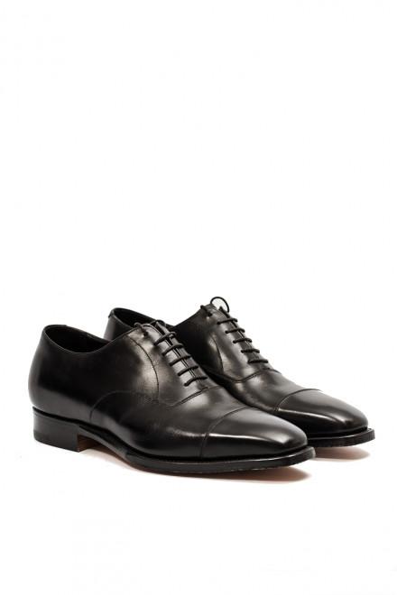 Туфли мужские (оксфорды) из гладкой черной кожи Gerardo Fossati