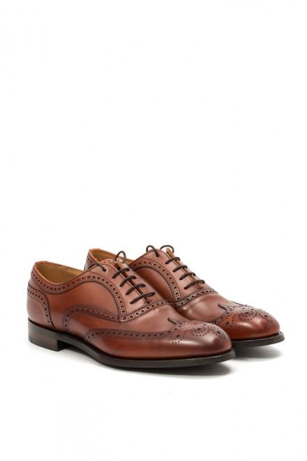 Туфли мужские (оксфорды фулл броги) Arthur коричневого цвета Joseph Cheaney & Sons