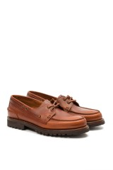 Туфли мужские (трэксайдеры) Newlin коричневого цвета Joseph Cheaney & Sons