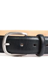 Ремень мужской кожаный черного цвета Barker