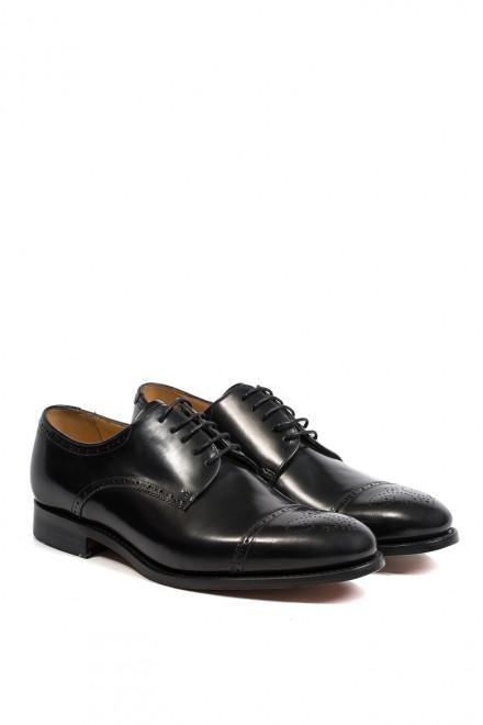 Туфли мужские (дерби) хелф броги черного цвета Barker