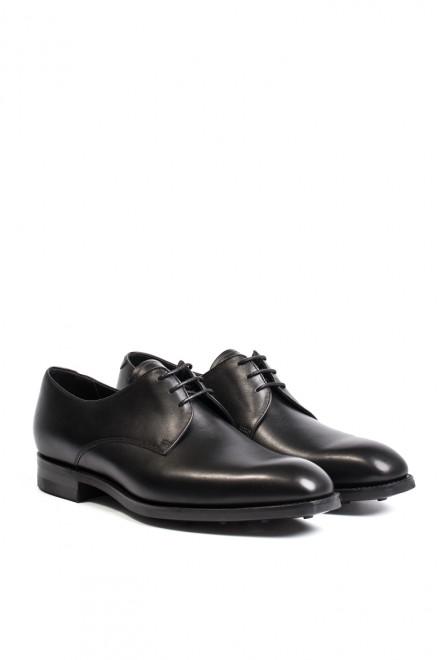 Туфли мужские (дерби) из гладкой кожи черного цвета Barker