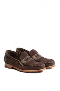 Туфли мужские (лоферы) замшевые коричневого цвета Barker