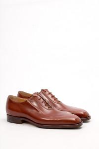 Туфли мужские оксфорды коричневые лакированная кожа Gerardo Fossati