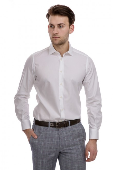 Рубашка мужская белого цвета Cadini