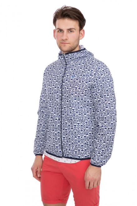 Куртка мужская с принтом-логотипом на молнии и с капюшоном North Sails