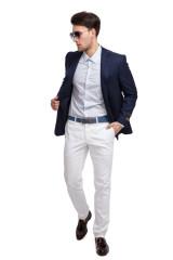 Рубашка мужская белого цвета в мелкий принт Pal Zileri