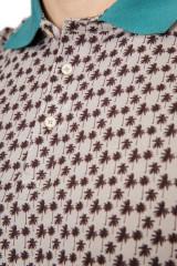Рубашка поло мужская бежевая в мелкий принт Pal Zileri