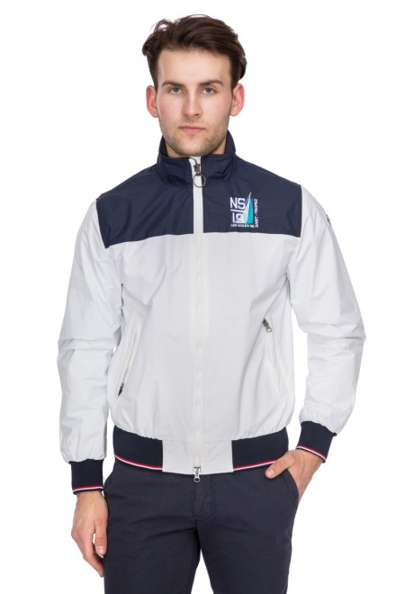 Куртка мужская колор блок на молнии с логотипом North Sails