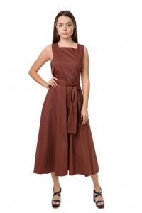 Платье-сарафан женское приталенное цвета тоффи Liviana Conti
