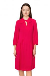 Платье женское с завязкой у воротника цвета розовый павлин Riani