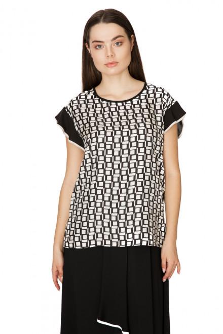 Блуза женская с коротким рукавом в квадраты Beatrice
