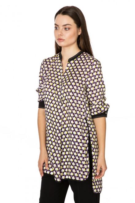 Блуза женская в горохи с длинным рукавом Beatrice
