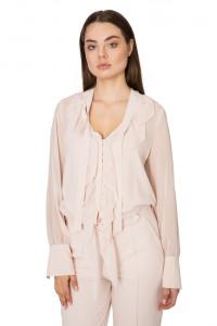 Блуза женская пудровая с рюшами Riani