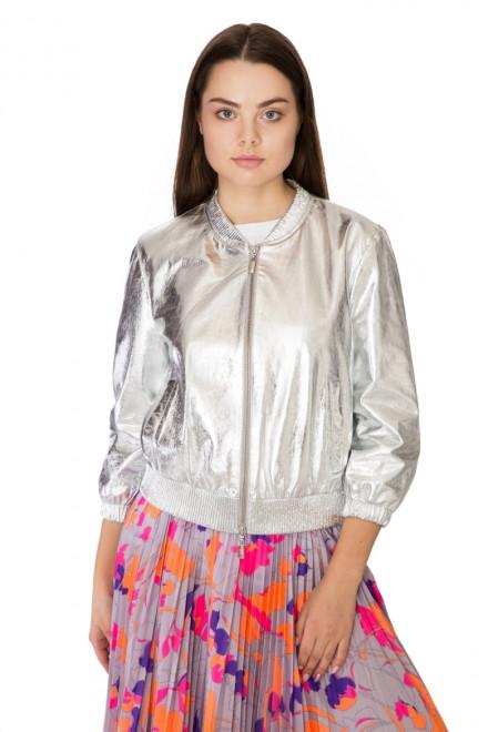 Куртка женская (бомбер) цвета металлик Sfizio
