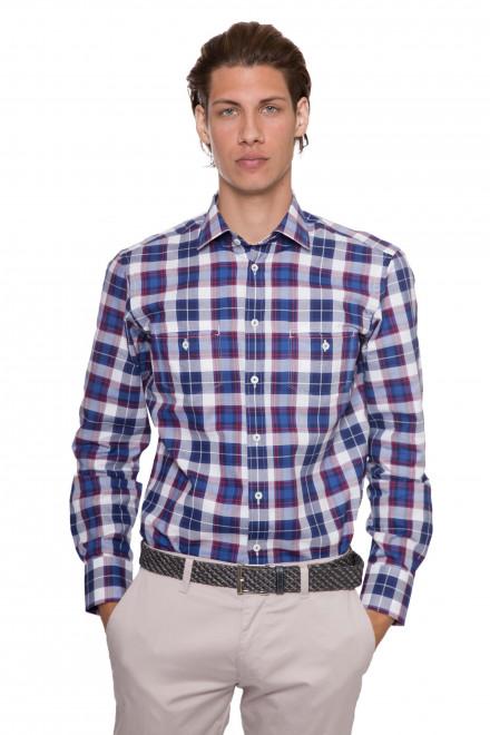 Мужская рубашка в клетку с длинным рукавом RENDY van Laack