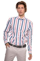 Рубашка мужская белого цвета в вертикальную полоску van Laack