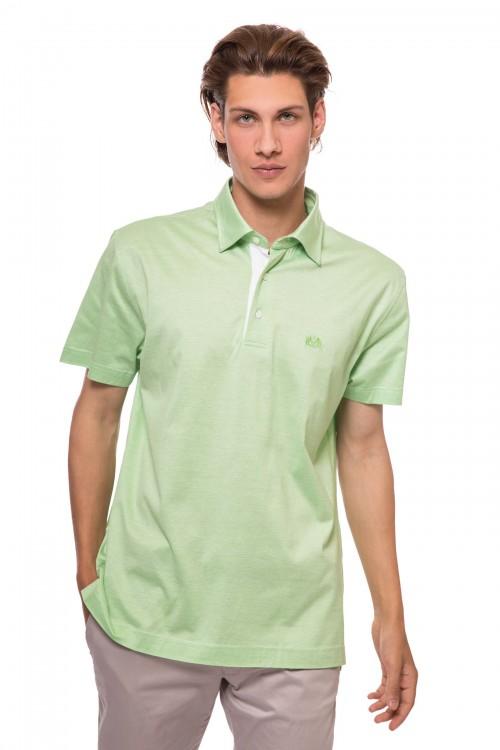 Футболка-поло мужская светло-зеленого цвета van Laack