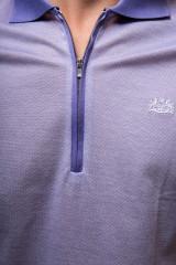 Футболка-поло мужская сиреневого цвета на молнии van Laack