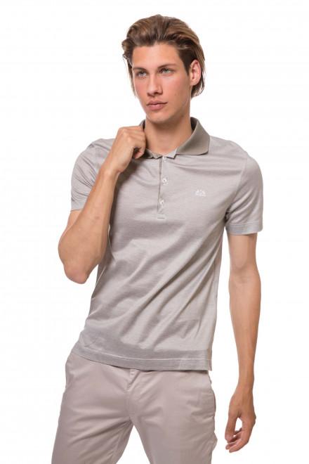 Футболка-поло мужская серого цвета с логотипом бренда van Laack