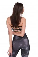 Топ женский с высоким вырезом и открытой спиной белый с разводами Onzie