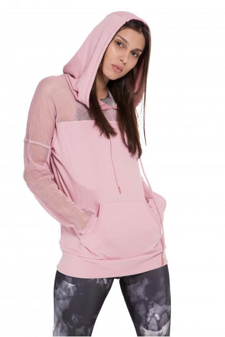 Пуловер спортивный женский светло-розовый Onzie