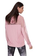Футболка женская с длинным рукавом светло-розовая Onzie