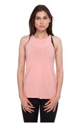 Майка женская розового цвета с завязками на спине Onzie