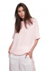 Блуза женская розовая с четвертным рукавом Le Couer