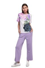 Штаны женские светло-фиолетовые широкие Riani