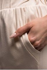 Штаны женские светло-бежевого цвета на резинке Riani