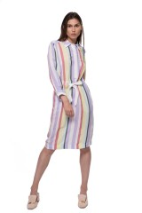 Платье-рубашка женское в полоску Riani 4