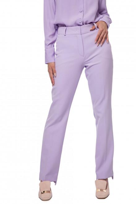 Штаны женские белого цвета широкие и расклешенные от бедра Riani