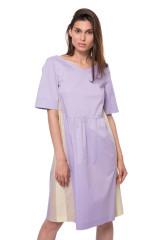 Платье фиолетовое со вставками Riani
