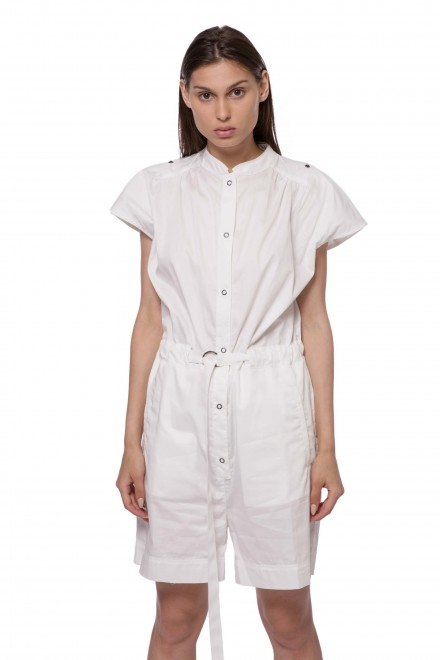 Платье-комбинезон женское белого цвета короткое Blauer