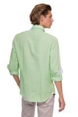 Рубашка мужская светло-зеленого цвета с длинным рукавом van Laack