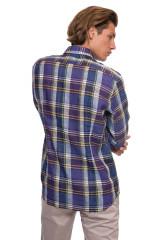 Синяя мужская рубашка в клетку van Laack 2