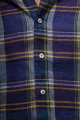 Синяя мужская рубашка в клетку van Laack 4