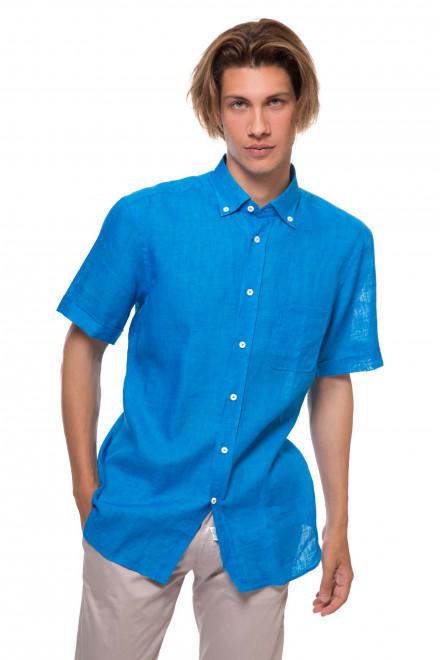 Рубашка мужская с коротким рукавом синего цвета van Laack